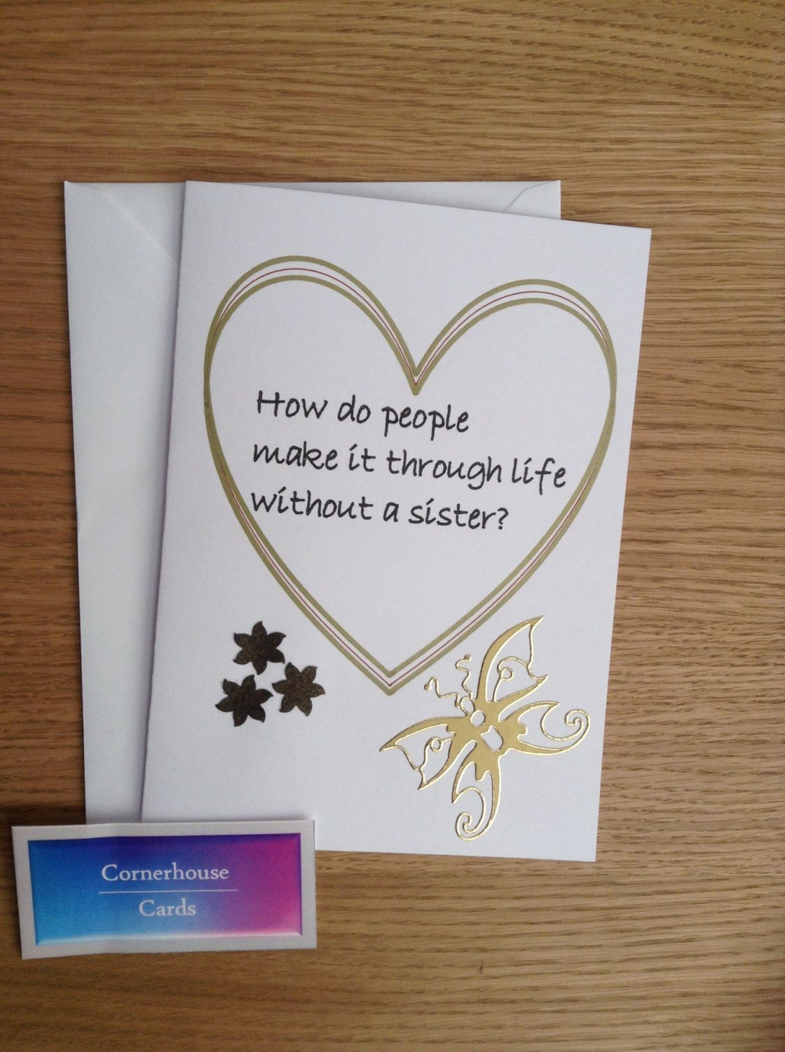 Card For Sisters Handmade Birthday Day Special Sister By CornerhouseCards On Etsy