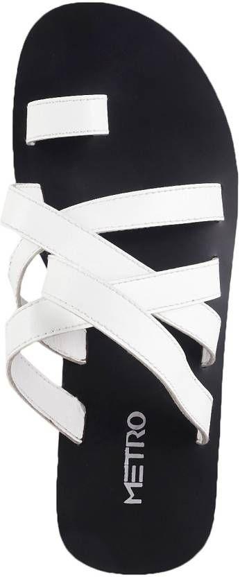 Color Metro Men White Sandals Online