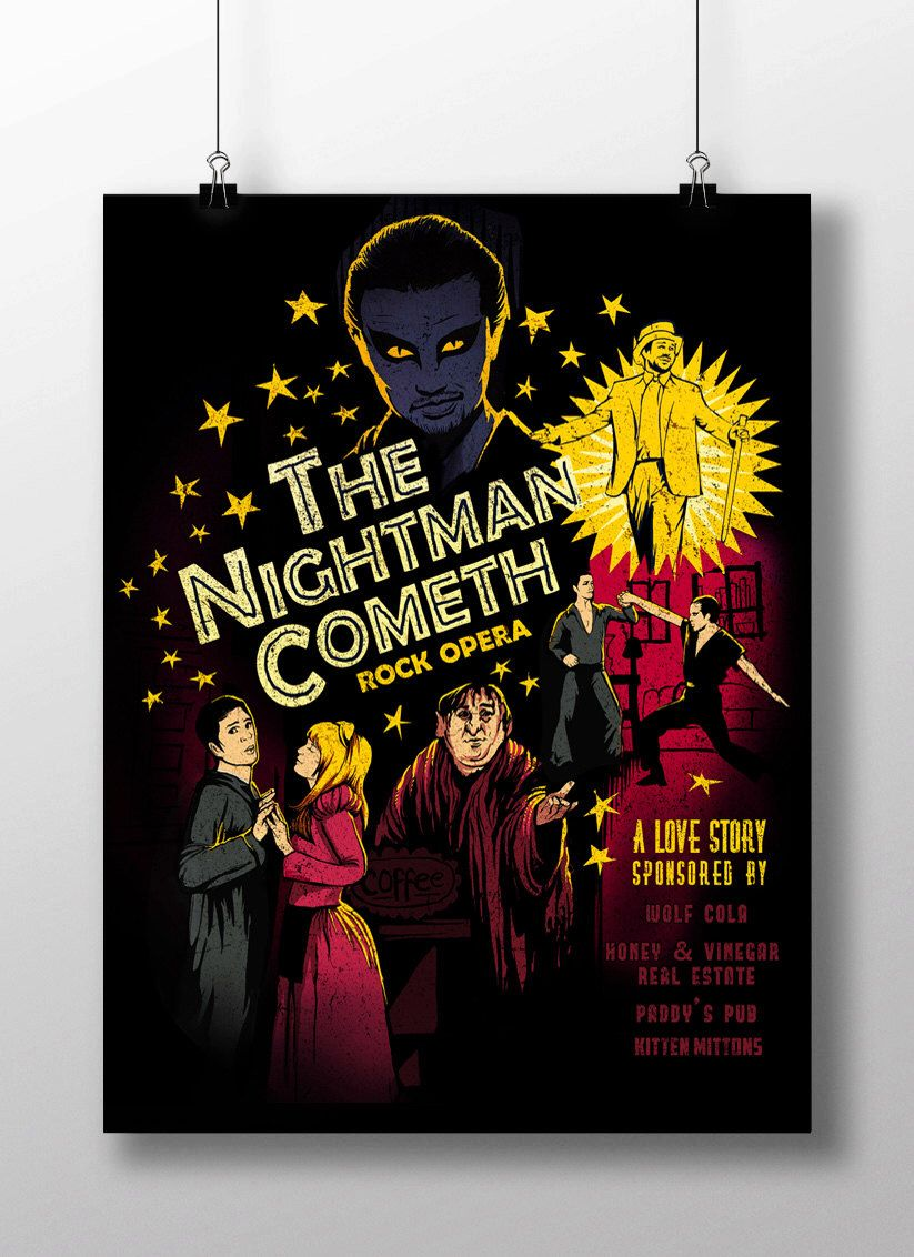 The Nightman Cometh Signed Art Prints Etsy Etsy Art Prints Signed Art Prints Philadelphia Artwork