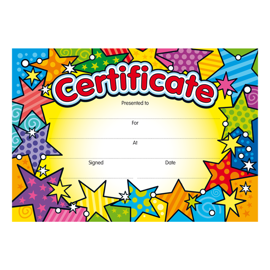 bright stars certificates from brainwaves  supplying