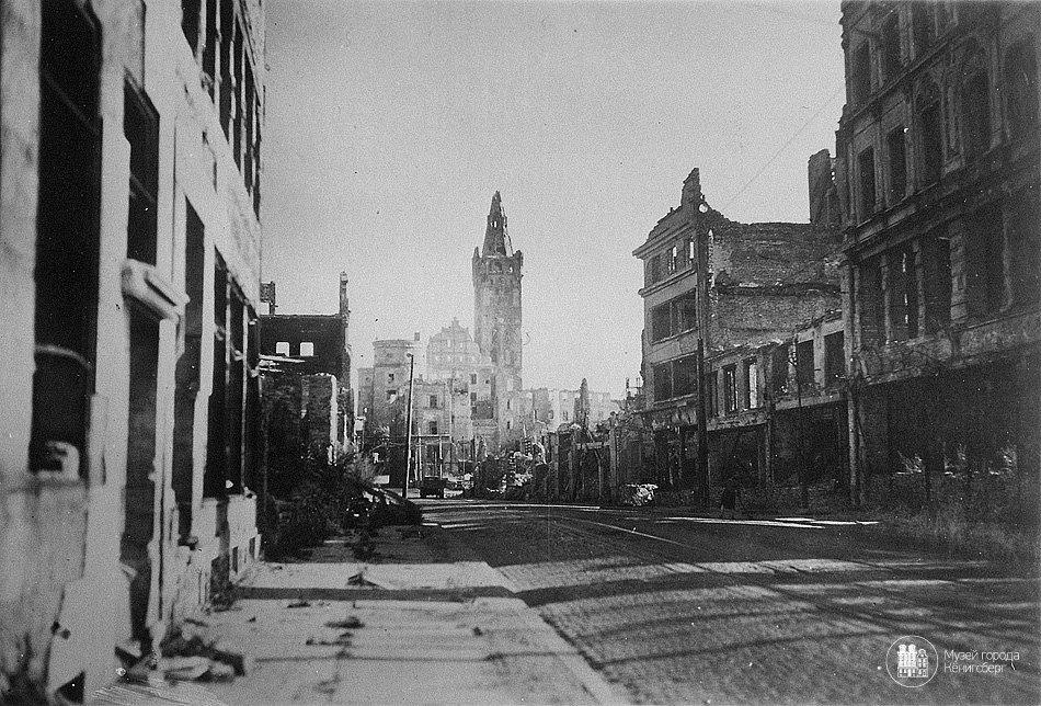 Калининград, ул. Кнайпхофская длинная. Фото ок. 1950 года.