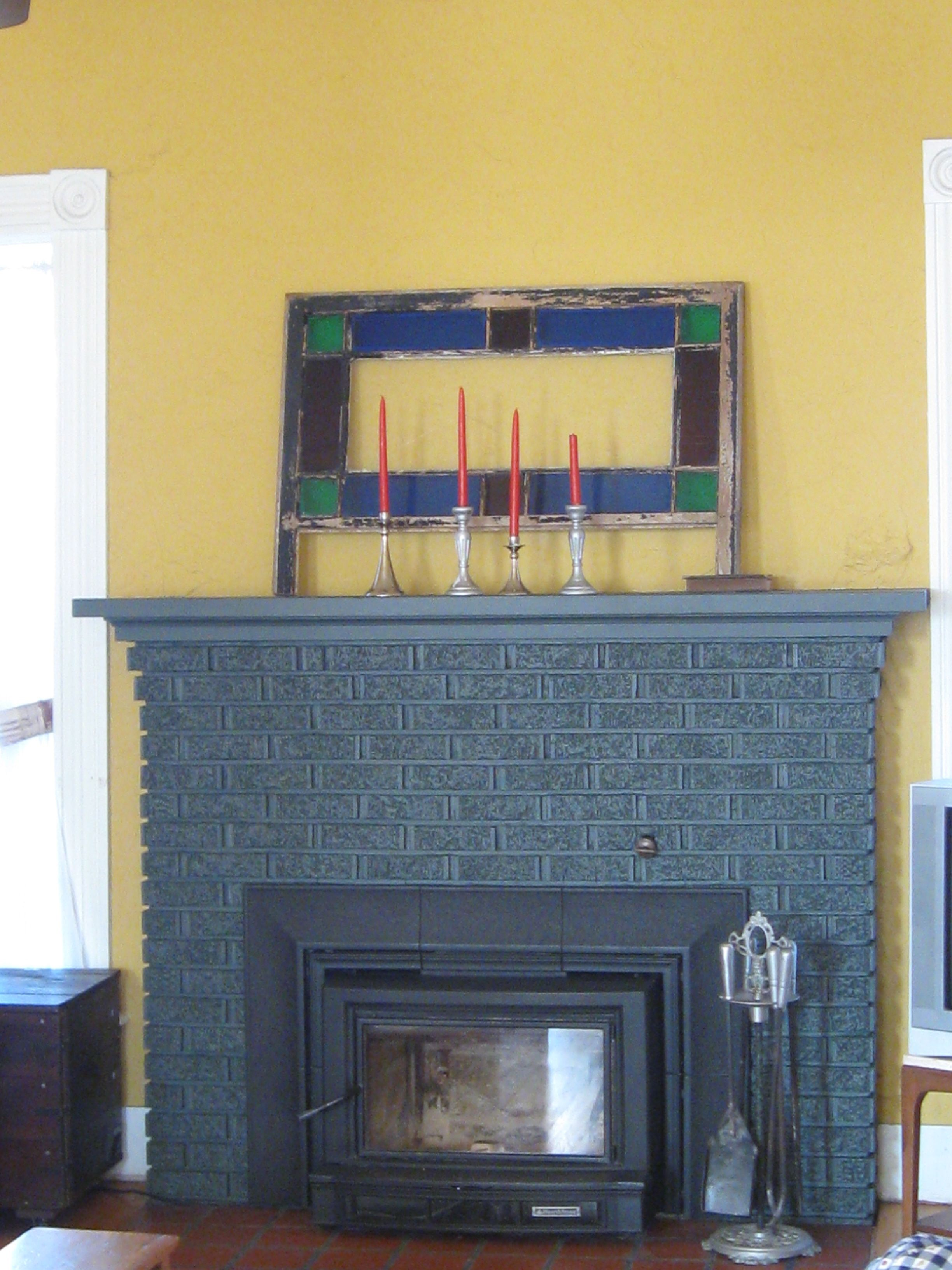 painted grey fireplace | Alviso Residence | Pinterest | Grey ...