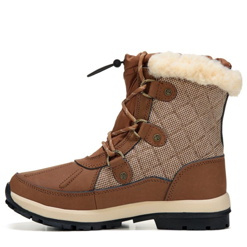 Bearpaw Women's Bethany Waterproof Lace Up Winter Boots (Hickory Mesh)
