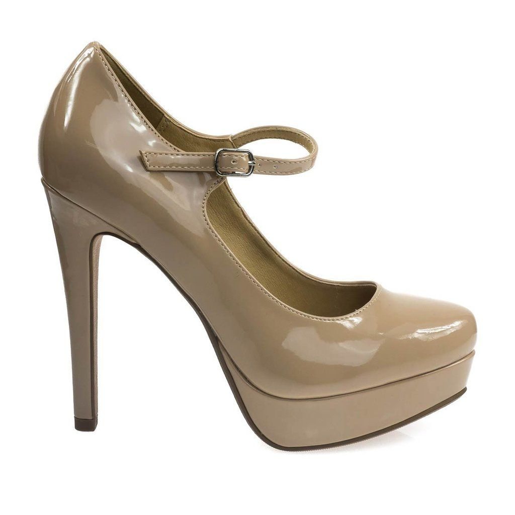 852ed247b999 Charm your colleagues with these flattering dress pump featuring adjustable  Mary-Jane strap