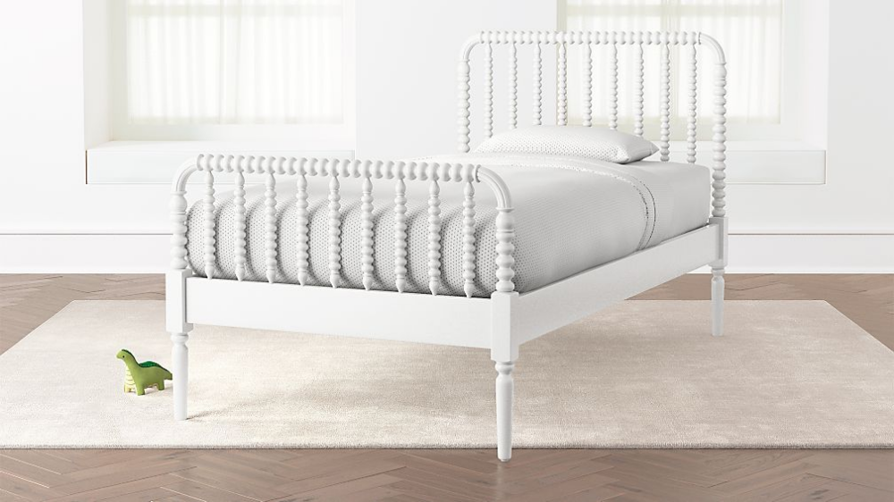 Jenny Lind White Twin Bed + Reviews Crate and Barrel