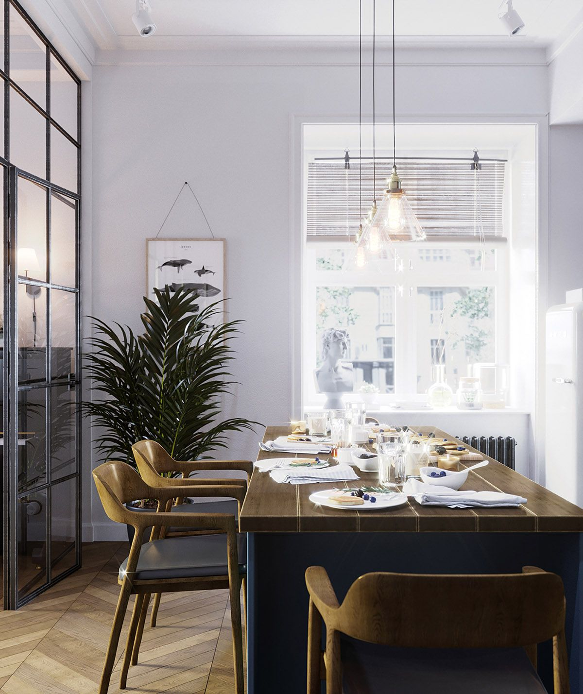 Feast Your Eyes Gorgeous Dining Room Decorating Ideas: Earthy Eclectic Scandinavian Style Interior
