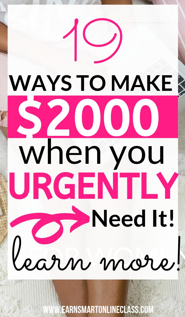 Need Money Now? 19 Quick Ways to Get Money Today   Smart Ways to
