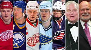 The Hockey Hall of Fame website - Mobile version