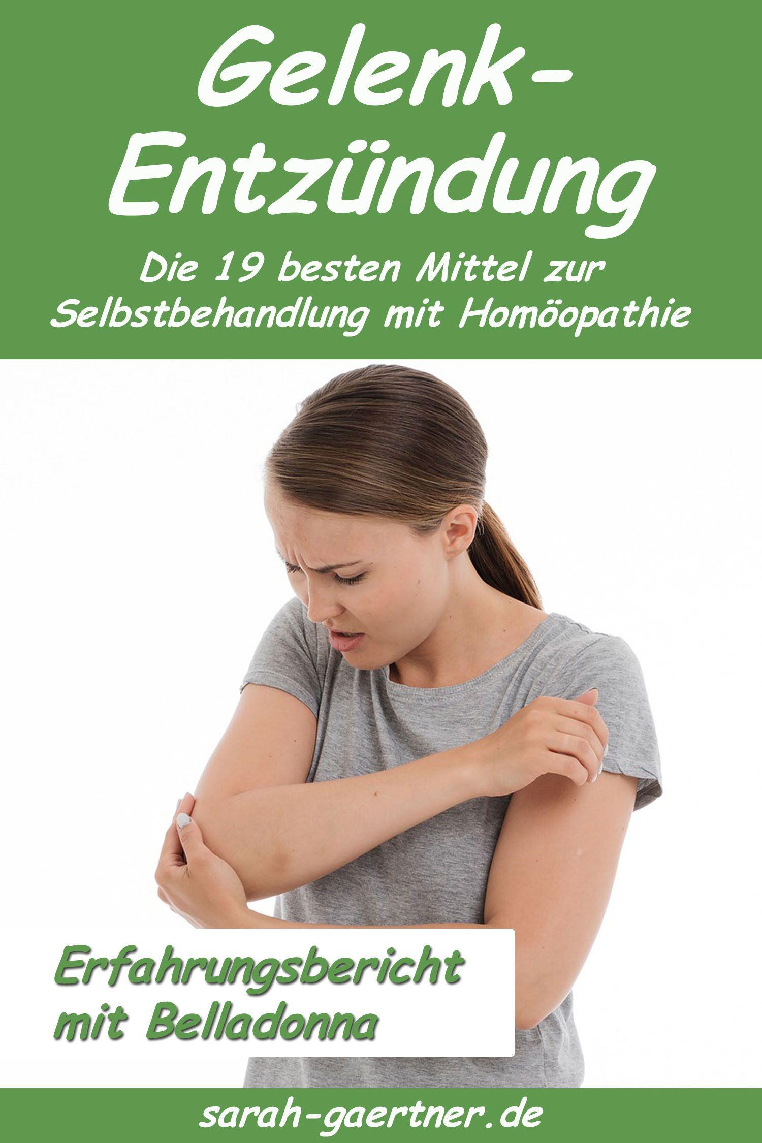 Gelenkentzündung - die 19 besten Homöopathie-Mittel in