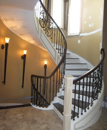 Monumental And Majestic Circular Staircase Wrought Iron