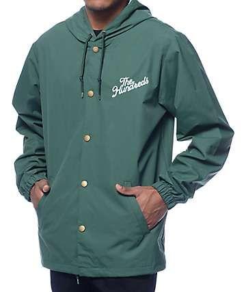 The Hundreds Slant Logo Forest Hooded Coach Jacket Gear