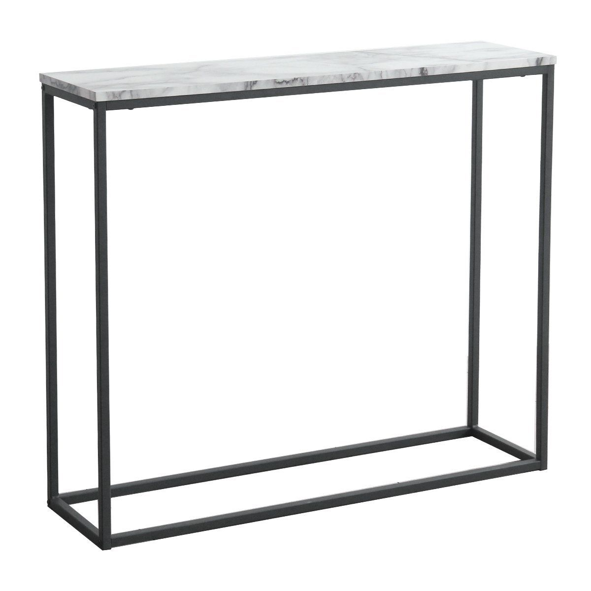 Amazon Com Tilly Lin Modern Accent Faux Marble Console Table Black Metal Frame For Hallway Entry With Images Marble Console Table Entrance Hall Furniture Hall Furniture