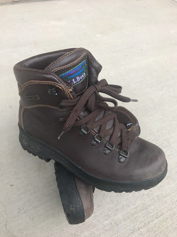 30c4221191c L.L. Bean Gore-Tex Cresta Womens 6.5 M 5 Brown Leather Hiking Boot ...
