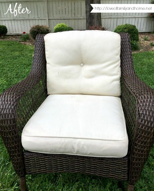 How to remove mildew stains from outdoor cushions in one afternoon ...