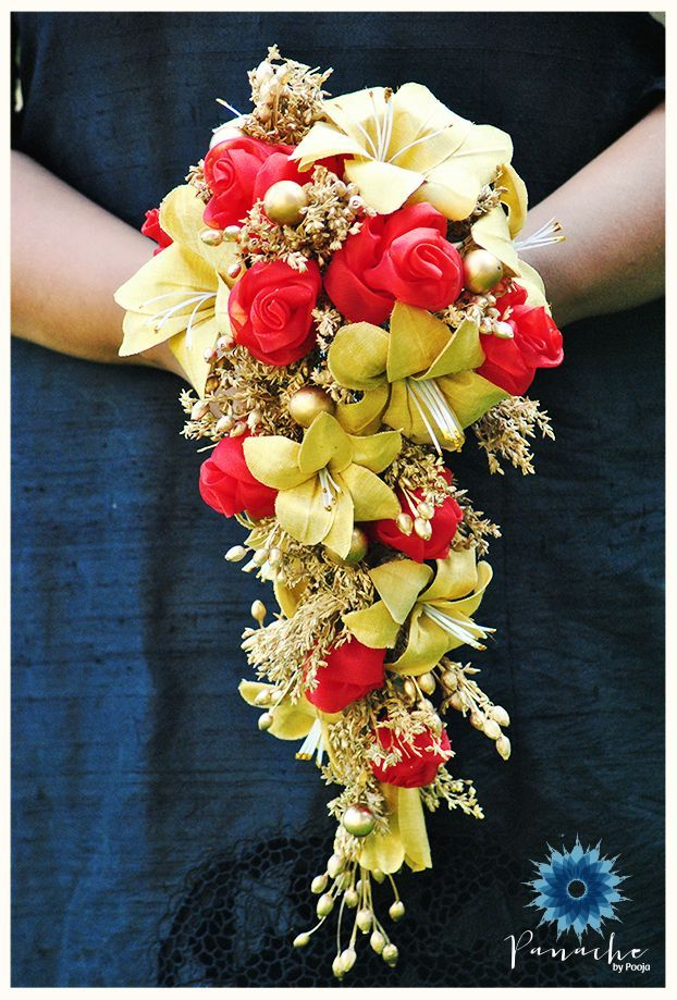 Image result for cascade bouquet with accessories
