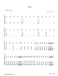 Fade Alan Walker Numbered Musical Notation Preview 1 With Images