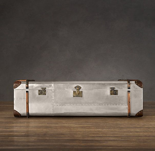 Restoration Hardwareu0027s Richardsu0027 Metal Trunk Coffee Table, Which I Would  Love To Use For Storing My Photographic Negatives And Slides.