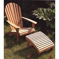 adirondack chair and footrest from barlow tyrie | summer lounge