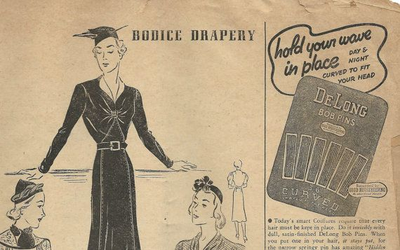 1930s Simplicity Fashion Forecast for January 1938 by eStitches