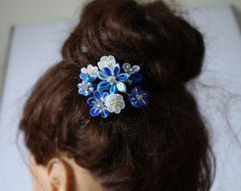 Peine de bodas accesorios cabello novia novia flor blanco