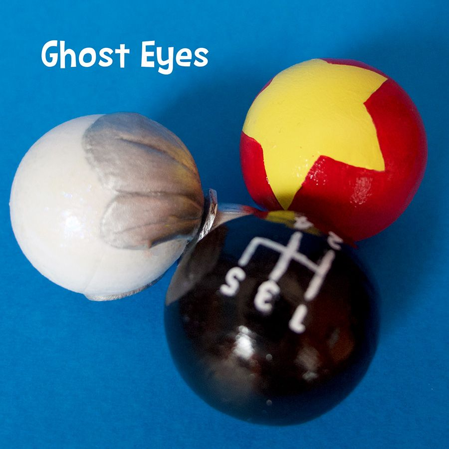 Childrens Ghost Eyes Paper Clay Over Pingpong Balls Coraline Costume Coraline Coraline Doll