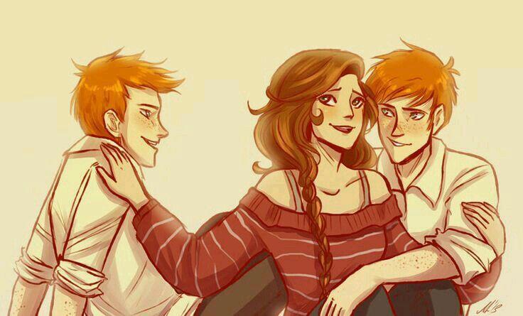 Fred Weasley And Hermione Granger Fan Art Fred, George an...