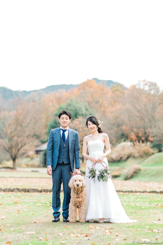 奈良 ペットと前撮り撮影 ブライダルフォト ウェディング 前撮り 参考写真 結婚式の写真撮影