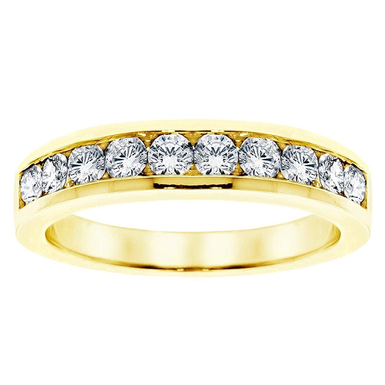 VIP Jewelry Art 1.00 CT TW Channel Set Round Diamond