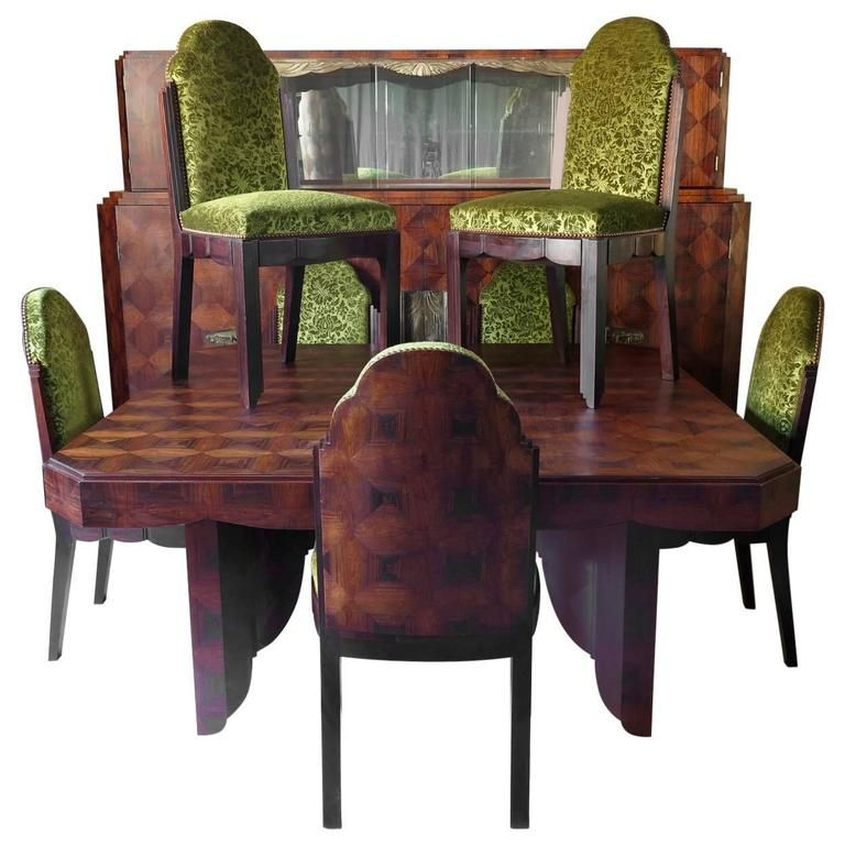 Art Deco Dining Room Set By Mercier Freres France 1920s Art Deco Dining Room Modern Dining Room Set Dining Room French
