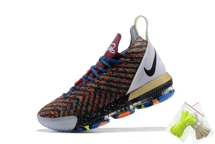 "Nike LeBron 16 ""1 Thru 5"" What The Multi-Color For Sale  8f7e729d9"