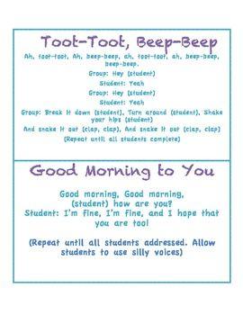 Morning greetings responsive classroom pinterest classroom morning greetings and songs responsive classroom m4hsunfo