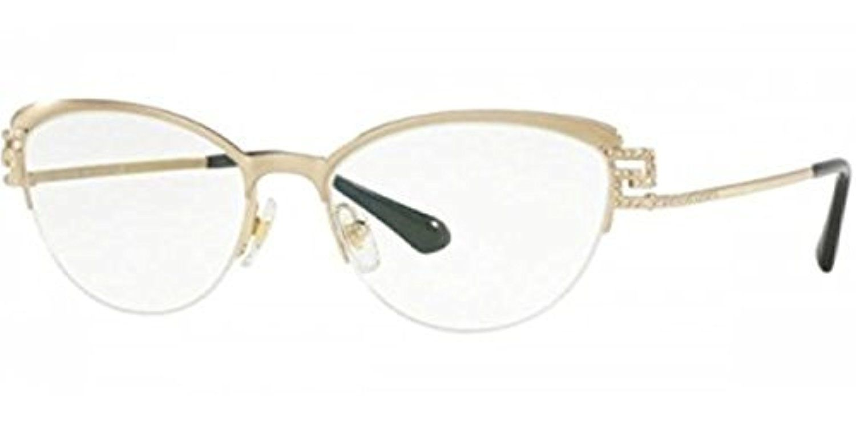 c3cf60c960 Amazon.com  Versace VE1239B Eyeglass Frames 1291-53 - 53mm Lens Diameter  Black Pale Gold VE1239B-1291-53  Clothing