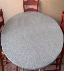 Tablecloths Fitted Vinyl Fits All Oval Tables Up To 72 Grey