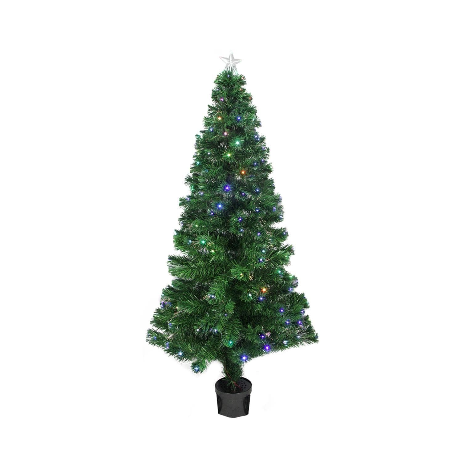 3 Pre Lit Led Color Changing Fiber Optic Christmas Tree With Star