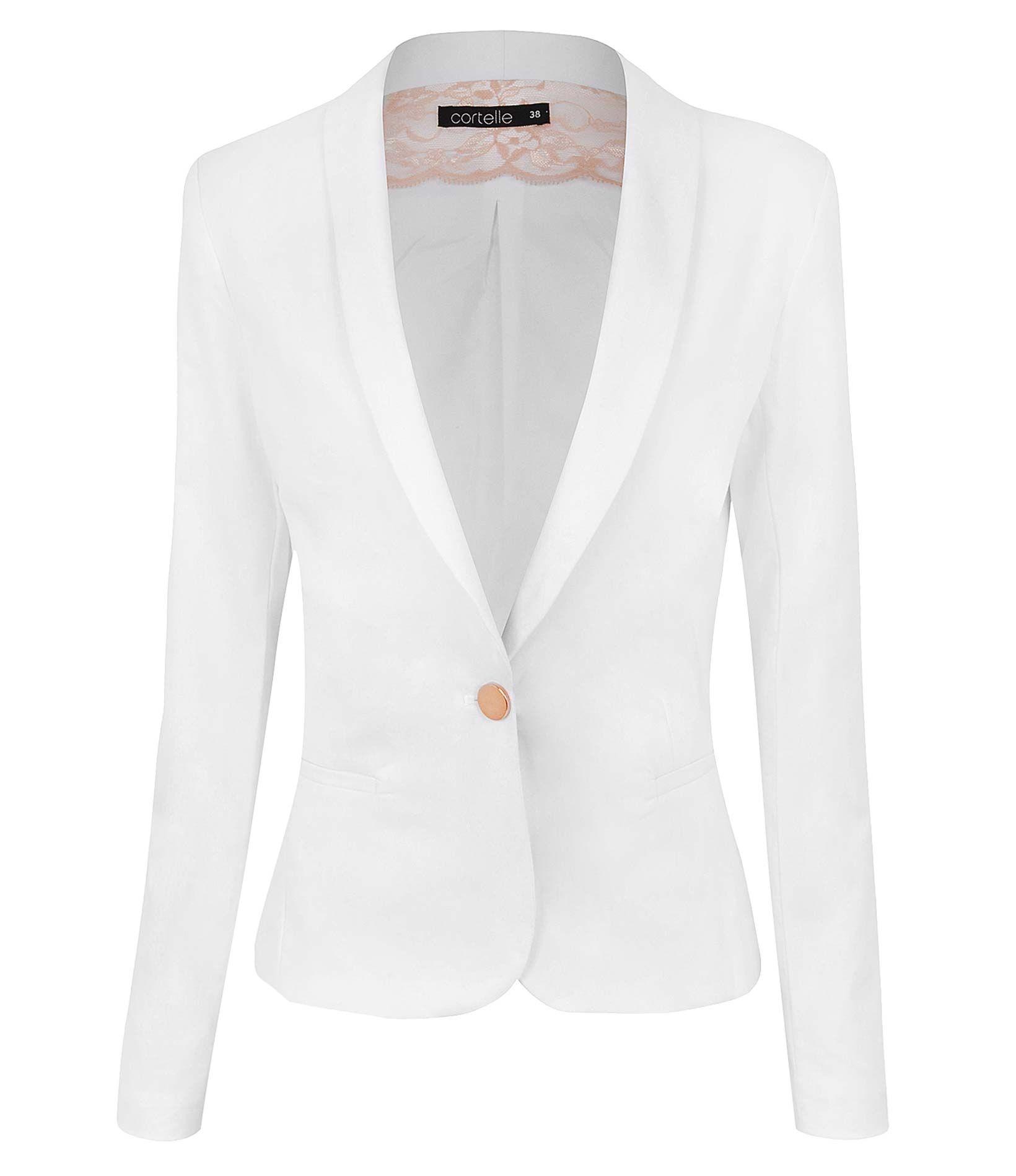 Feminino Casacos e jaquetas Blazers femininos M Preto