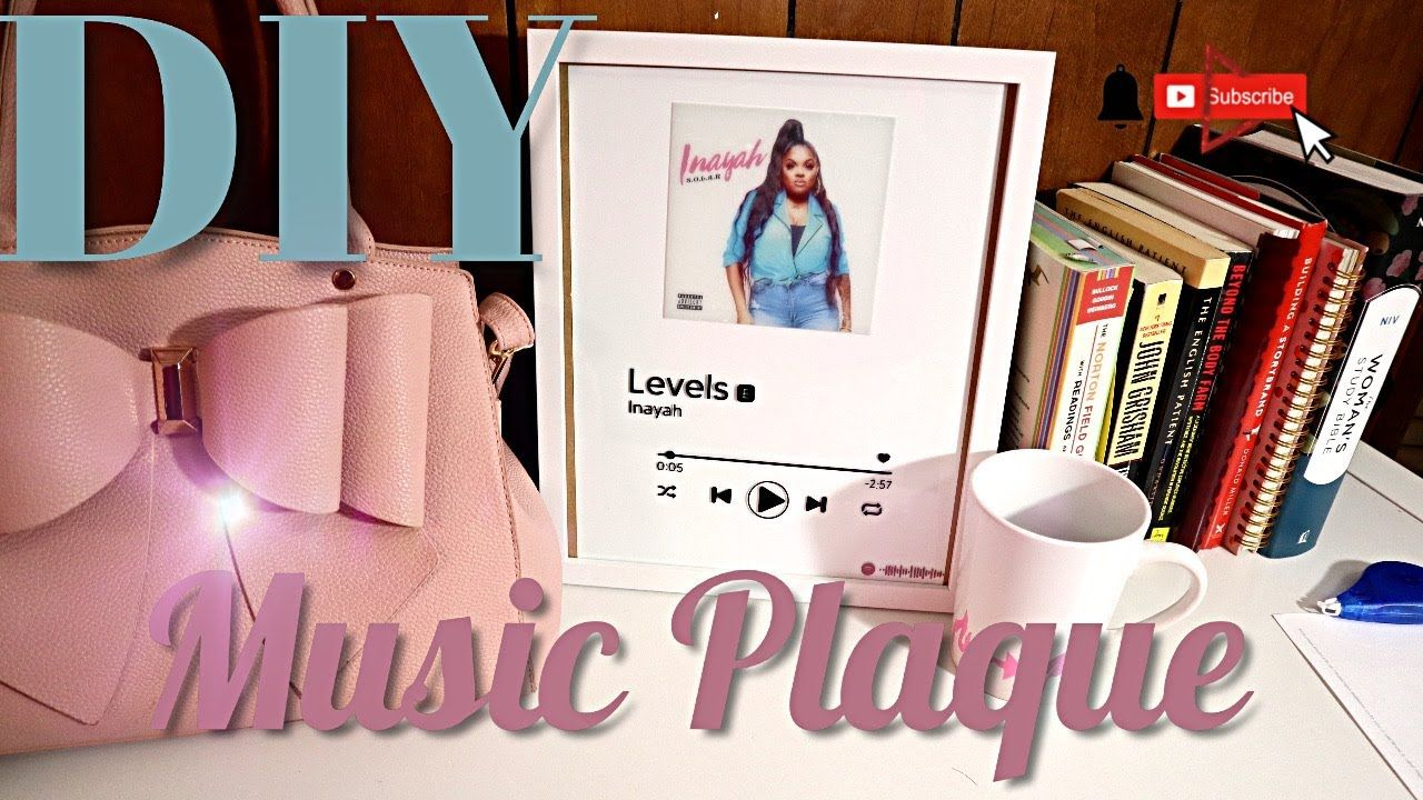 Detailed How To Diy Spotify Music Plaque Viral Tiktok Youtube Spotify Music Diy Picture Frames Music Pictures