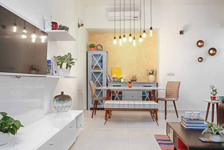 Cosy 2bhk Goes Big On Style Living Room Designs India Flat Interior Design Minimalist Living Room