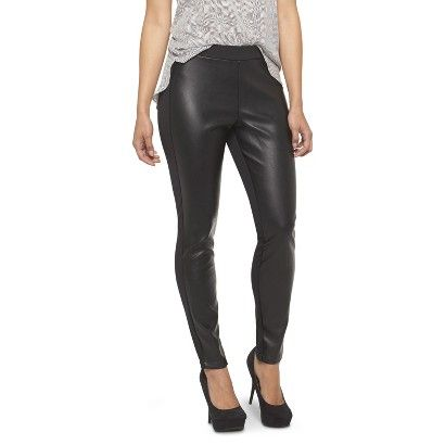 Mossimo Women's Faux Leather Front Ponte Pant Black - Target ...