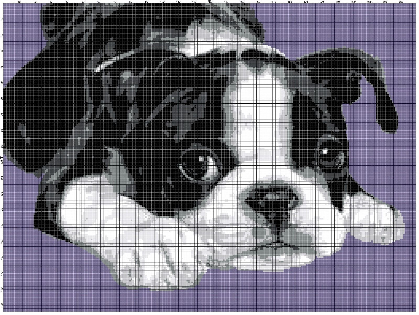DOG//PUPPY FACE Color Graph Afghan Pattern *EASY//BEGINNER Crochet Patterns