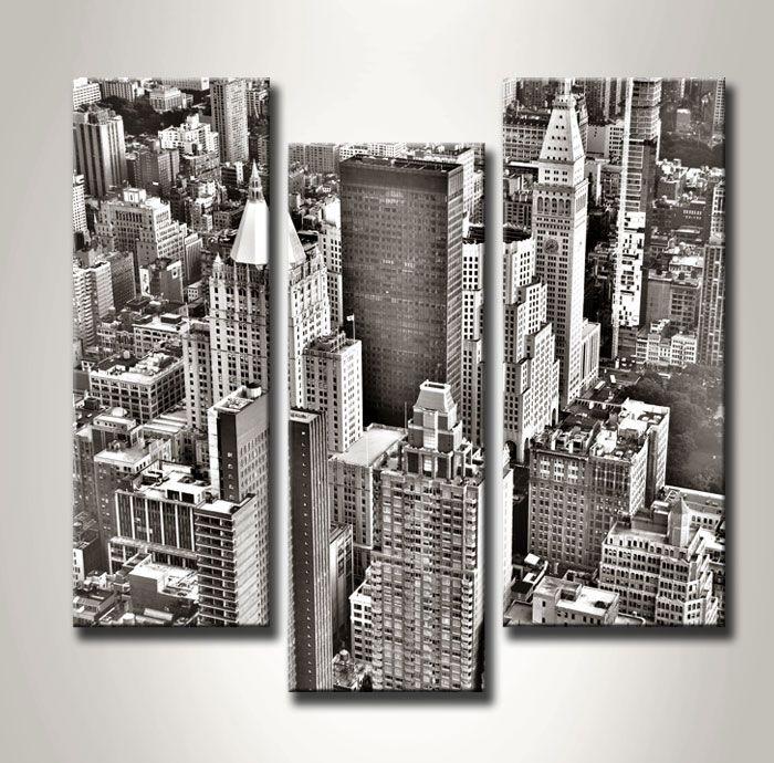 CA_313 / Cuadro Nueva York aereo b/n | Cuadros Modernos | Pinterest ...