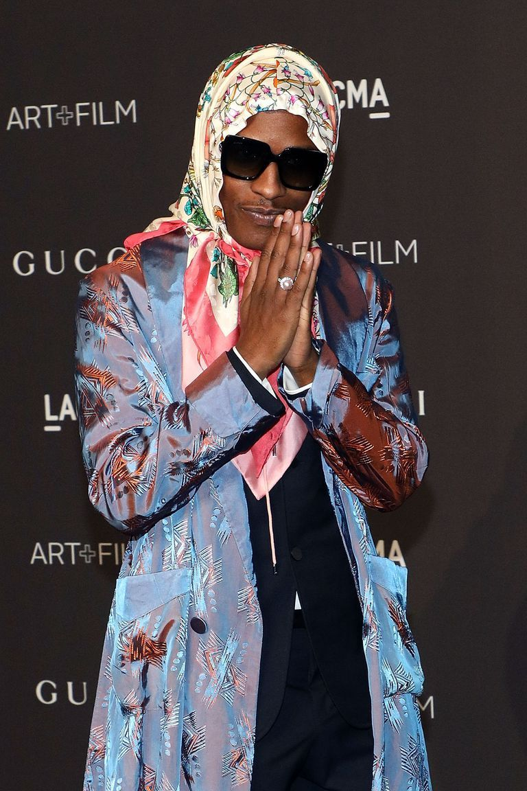 AAP Rocky Wore a Gucci Grandma Scarf, So Now I Need a