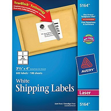 shipping labels avery