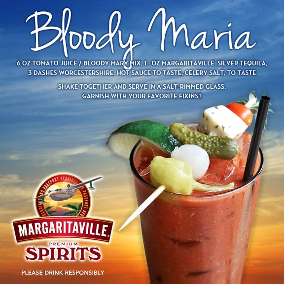 Bloody Maria Cocktail With Margaritaville Silver Tequila