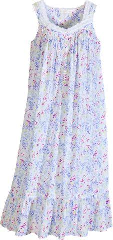 Eileen West Garden Symphony Sleeveless Cotton Lawn Nightgown ab40e1ace