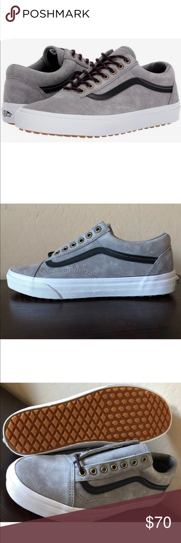 Vans Men's Old Skool MTE Frost GrayWhite Shoes NEW