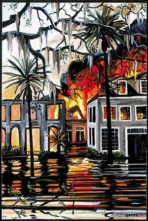David Bates The Garden District 2006 Oil On Canvas 36 By 24