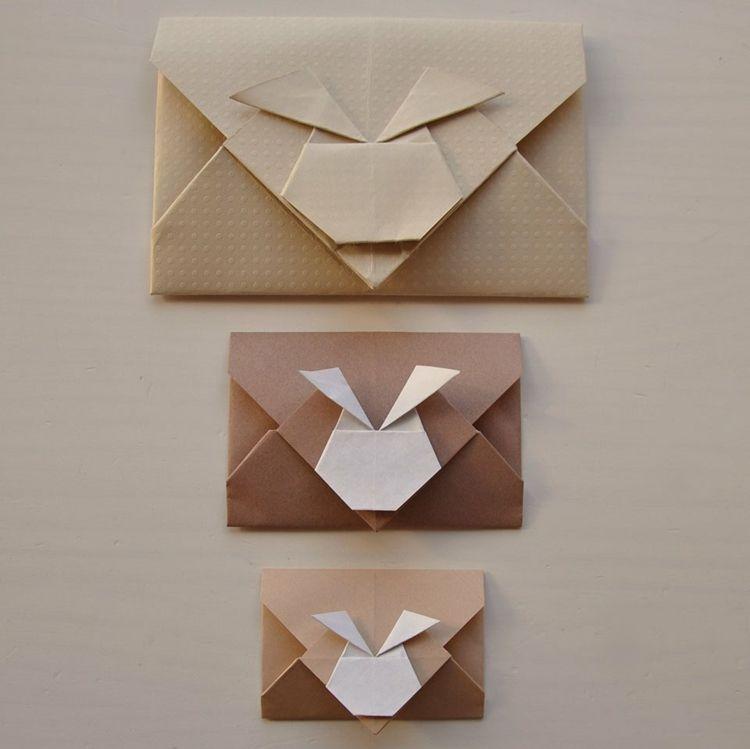 hase origami brief umschlag design anleitung einfach deko idee kind kreativ pinterest. Black Bedroom Furniture Sets. Home Design Ideas