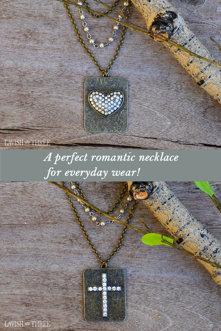 Perfect gift for mom or daughter! A trio of romantic chains with a heart or cross make each necklace perfect for everyday wear. Pin these to your must have board and then explore all the home decor, gifts and jewelry at Lavish Three!