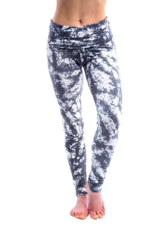 dea4075631ab6 Womens Tie Dye Yoga Pants - Ankle Length in Cotton Spandex - Yoga Leggings  - Yoga