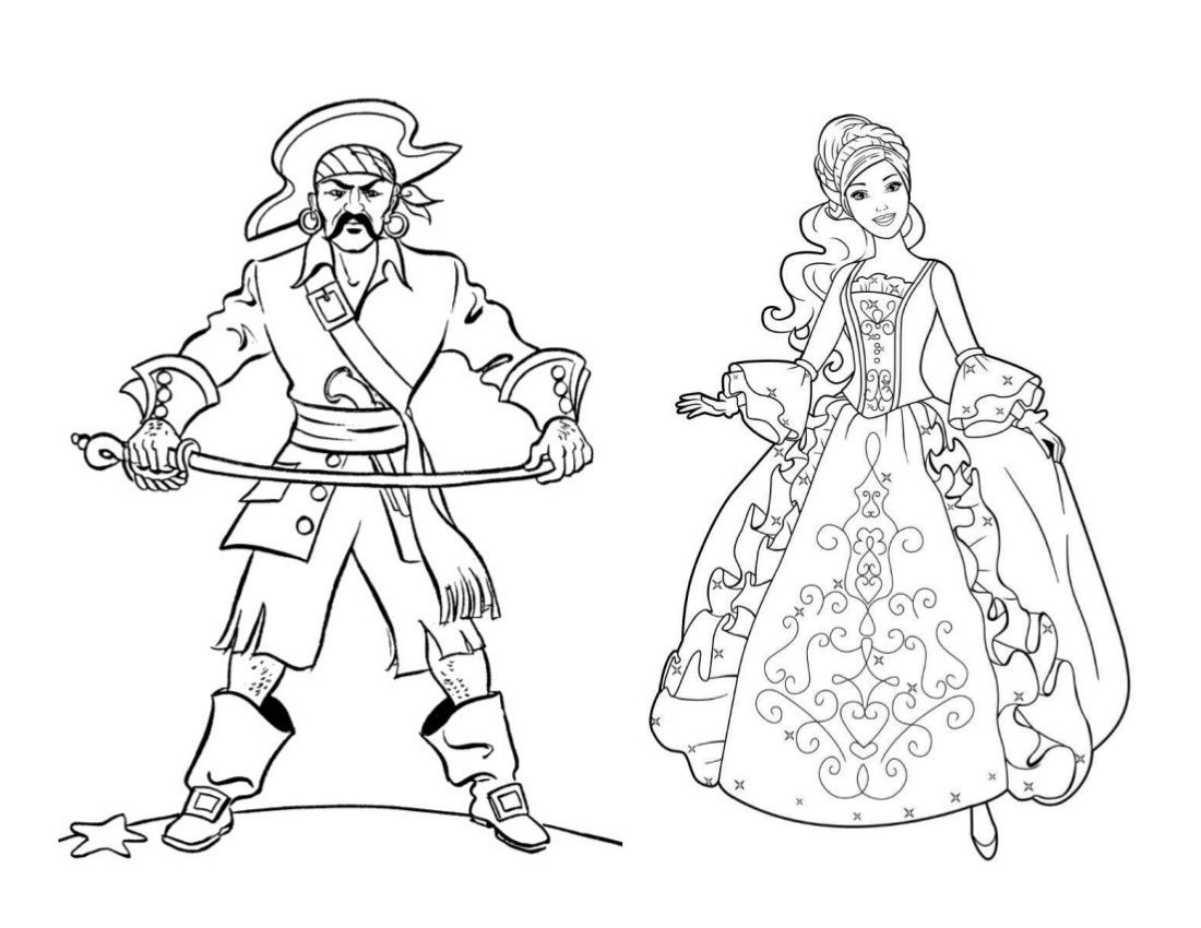Pirates And Princesses Coloring Page Princess Coloring Pages Princess Coloring Mermaid Coloring Pages